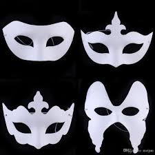 Scary Halloween Half Masks by Cheap Diy Painting White Paper Masks Venetian Party Masquerade