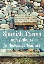 Choosing Spanish Poems For Kids Learning Language
