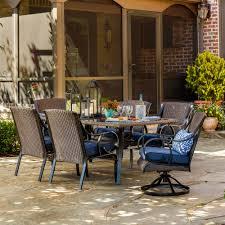 Sears Lazy Boy Patio Furniture by La Z Boy Outdoor Kinsley 7 Pc Dining Set Denim Limited