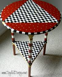 Mackenzie Childs Painted Pumpkins by Furniture Mackenzie Childs Knock Off Table In Round For Home