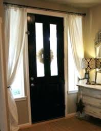 window treatments for sidelights on front door