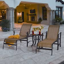Kirklands Outdoor Patio Furniture by Saratoga 3 Piece Sling Patio Chaise Set