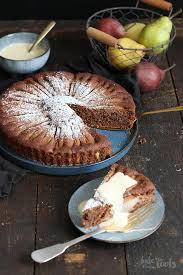 einfacher schokolade birnen kuchen
