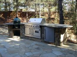 Outdoor Kitchen With Green Egg Designs Big Table Blueprints