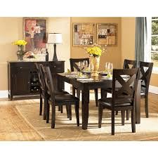 Homelegance Crown Point 5pc Dining Table Set In Merlot Finish
