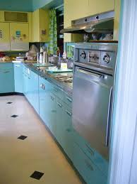 Working Kitchen Still In Use With 60s Era Cabinets Counters Appliances Ect