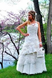 wedding dresses made of toilet paper the results are surprisingly