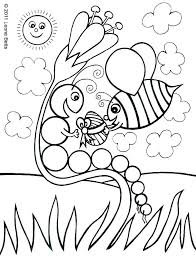 Coloring Pages Printable The Very Hungry Caterpillar Page Food Colouring H Unicorn