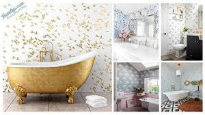 37 Amazing Small Bathroom Wallpaper - Homiku.com How Bathroom Wallpaper Can Help You Reinvent This Boring Space 37 Amazing Small Hikucom 5 Designs Big Tree Pattern Wall Stickers Paper Peint 3d Create Faux Using Paint And A Stencil In My Own Style Mexican Evening Removable In 2019 Walls Wallpaper 67 Hd Nice Wallpapers For Bathrooms Ideas Wallpapersafari Is The Next Design Trend Seashell 30 Modern Colorful Designer Our Top Picks Best 17 Beautiful Coverings