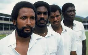 Getty West Indian Fast Bowlers Andy Roberts Michael Holding Colin Croft And Team Manager