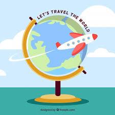 Flat Design Travelling The World Globe Background