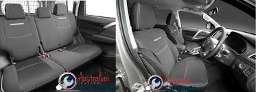 Seat Covers Front & Rear Set Neoprene Suitable For Mitsubishi Pajero ...
