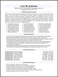 Facility Manager Resume Sample Combined With Property More For Produce Astounding