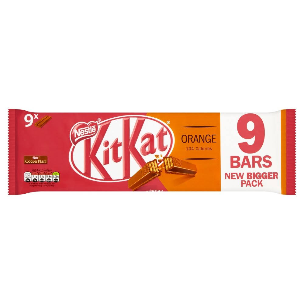 Kit Kat 2 Finger Chocolate Biscuit Bar - Orange, 20.7g, 9pk