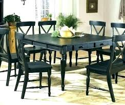 Distressed Black Dining Table Room Sets