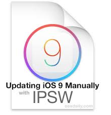 How to Install iOS 9 on iPhone or iPad Manually with Firmware in