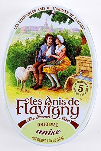 Les Anis De Flavigny French Mints Hard Candy - Anise, 1.75oz