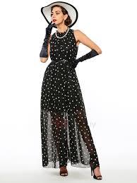 bohemian halter polka dots dress tidebuy com