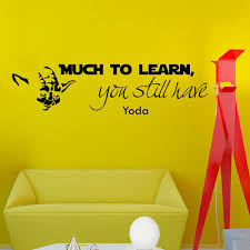 Wall Mural Decals Uk by Wall Decals Star Wars Quote Much To Learn You Still Have Yoda