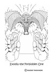 Exodia 2 Coloring Page