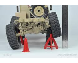 100 Rc Dually Truck Cross RC HC6 110 6x4 Scale Off Road Military Kit CZRHC6
