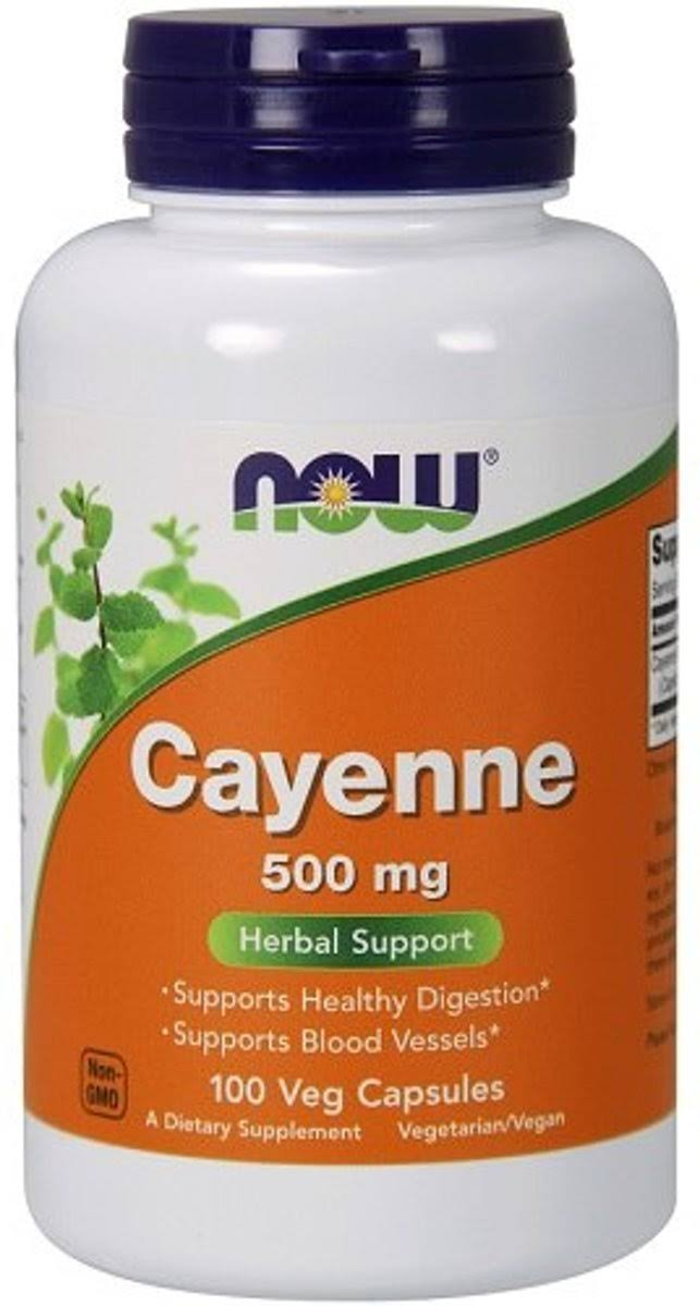 Now Cayenne, 500 mg, Veg Capsules - 100 capsules