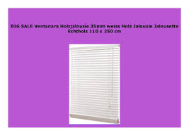 new ventanara holzjalousie 35mm weiss holz jalousie