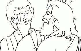 Winsome Jesus Heals Blind Bartimaeus Coloring Page Printable Pages With 17 Best Images