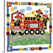 100 Fire Truck Wall Art GreatBigCanvas Truck By Cheryl Piperberg Canvas