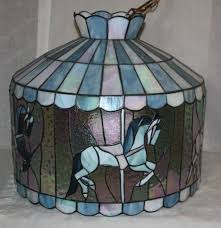 Tiffany Style Lamp Shades by Tiffany Style Vintage Carousel Unicorn Hanging Chandelier Lamp