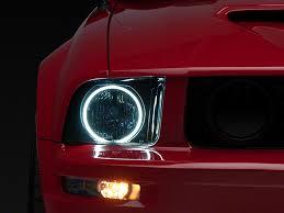 axial mustang smoked headlights ccfl halo 49121 05 09 gt v6
