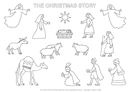 Christmas Story Coloring Pages With