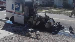 100 Postal Truck Fire Destroys Service Truck In Roswell