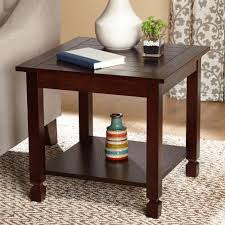 End Table With Lamp Attached Walmart by Zenith End Table Espresso Walmart Com