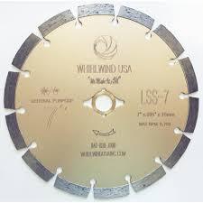Tile Saw Blades Home Depot by Whirlwind Usa 7 In 14 Teeth Segmented Diamond Blade For Dry Or