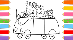 Peppa Pig Family Car Ride