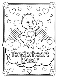 Download Coloring Pages Care Bear 1000 Images About Tenderheart 4