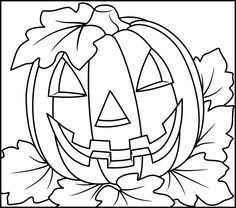 Halloween Coloring Page Three Pumpkins