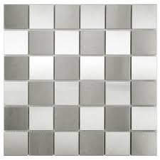Home Depot Merola Penny Tile by Merola Tile Alloy Quad Checkerboard 12 In X 12 In X 8 Mm