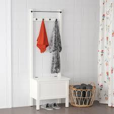 hemnes storage bench w towel rail 4 hooks white 251 4x145