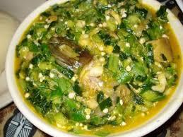 West African Okro Soup With Fufu Recipe