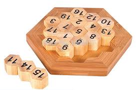 Classic Brain Teaser Wooden Hexagon Digital Puzzle Sum Equal To 38 Math Board Game Educational Toy For Kids And Adults In Puzzles From Toys Hobbies On