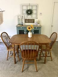 Walter Wabash Solid Oak Table And 3 Chairs For Sale In Manchester CT
