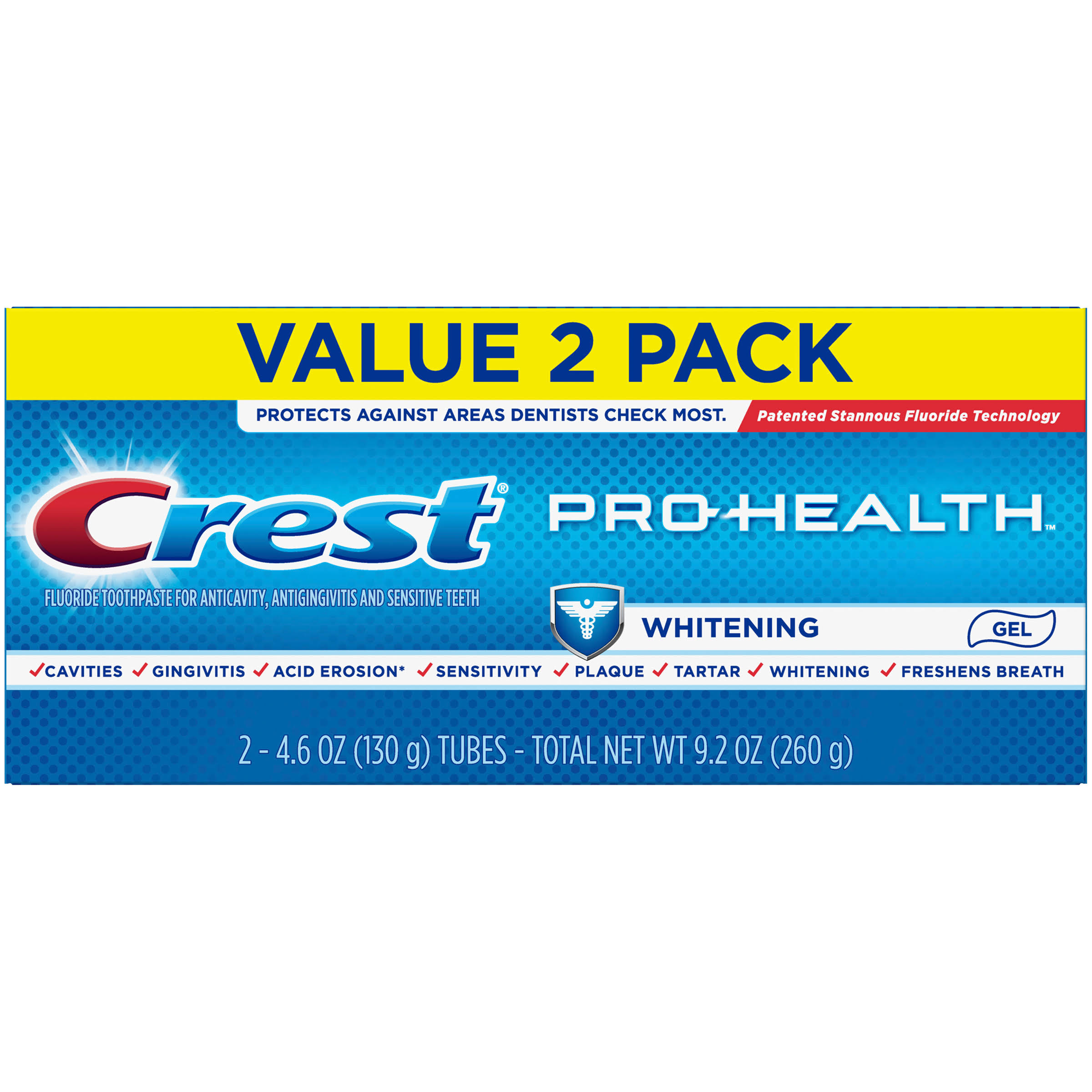 Crest Pro Health Whitening Power Fluoride Toothpaste Value Pack - 2 Pack