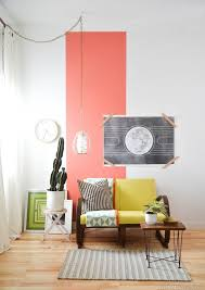 Coral Color Interior Design by 22 Clever Color Blocking Paint Ideas To Make Your Walls Pop