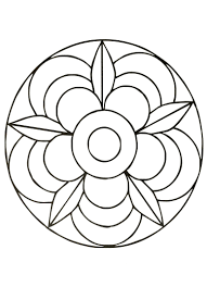 Mandala Coloring Pages Images Copy Simple And