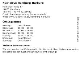 ᐅ öffnungszeiten küche co hamburg harburg harburger
