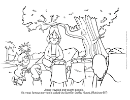 Todays Free Printable Activity Is A Sermon On The Mount Coloring Page Download It Here