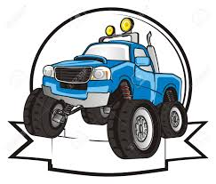 100 Blue Monster Truck And Clean Banner Stock Photo Picture And Royalty