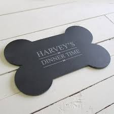 Personalised Slate Dog Food Mat